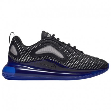 Nike Air Max 720 Black And Blue Nike Air Max 720 - Men's Black/Black/Racer Blue/Reflect Silver