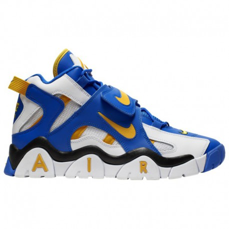 Red Nike Air Barrage MID Nike Air Barrage Mid - Men's White/Laser Orange/Racer Blue/Black