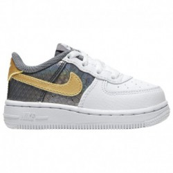 Nike Air Force 1 Lv8 Girls Nike Air Force 1 Low - Girls' Toddler White/Metallic Gold/anthracite | LV8