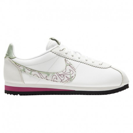 Nike Classic White Red Nike Classic Cortez - Women's Summit White/Summit White/Noble Red | Se - Avail To Ship Mid Feb