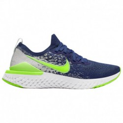 Nike Epic React Flyknit Boys Nike Epic React Flyknit 2 - Boys' Grade School Coastal Blue/Electric Green/Ghost Aqua