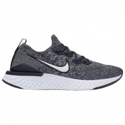 White Nike Epic React Flyknit Nike Epic React Flyknit 2 - Boys' Grade School Black/White/White