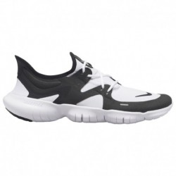 Black Men's Nike Free Shoes Nike Free Rn 5.0 - Men's White/Black/Black