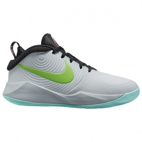 Nike Hustle D7 Blue Nike Hustle D 9 - Boys' Grade School Pure Platinum/Electric Green/Aurora Green