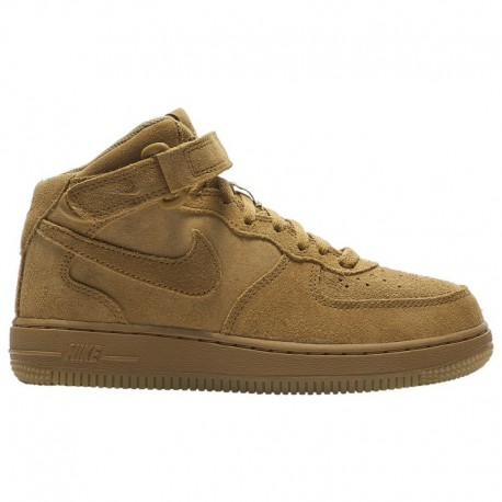 Nike Air Force Wheat MID Nike Air Force 1 Mid - Boys' Preschool Wheat/Gum