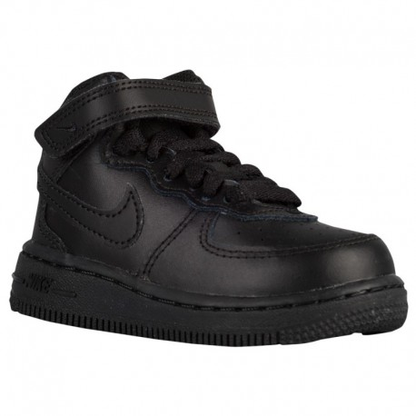 Nike Air Force 1 Black MID Nike Air Force 1 Mid - Boys' Toddler Black/Black