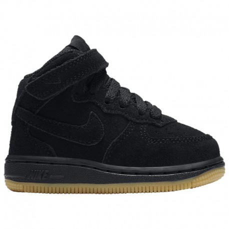 Nike Air Force 1 Black Suede Gum Nike Air Force 1 Mid Suede - Boys' Toddler Black/Gum