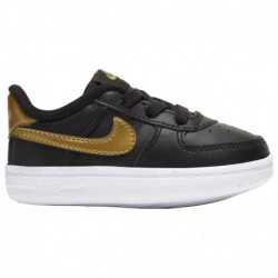 Nike Air Force One Gold Nike Air Force One Crib - Boys' Infant Black/Metallic Gold
